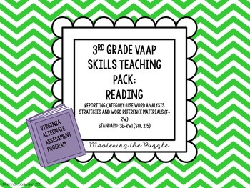 VAAP Reading Teaching Pack: 3rd Grade (Syllables)