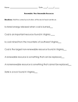 VAAP Renewable NonRenewable Resources HSS-ERH 2 Visual Helper Autism