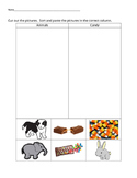 VAAP Science Classify Objects - Animals v Candy (Low Level) 5S-SI 1 (b)