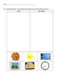 VAAP Science Classify Objects - Circles v Rectangle (Low Level) 5S-SI 1 (b)