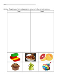 VAAP Science Classify Objects - Toys v Food (Low Level) 5S-SI 1 (b)