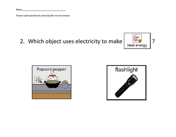 VAAP Science Electricity into Other Forms of Energy (Low Level)