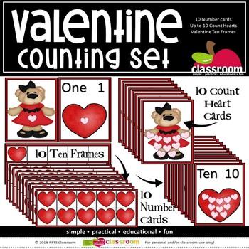 VALENTINE 3 PC COUNTING SET