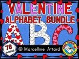 VALENTINE'S DAY BULLETIN BOARD ALPHABET CLIP ART BUNDLE