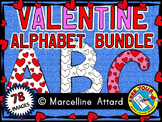 VALENTINE ALPHABET CLIP ART BUNDLE - 3 SETS OF UPPERCASE LETTERS