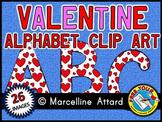 VALENTINE ALPHABET CLIP ART: ALPHABET LETTERS WITH HEARTS CLIPART