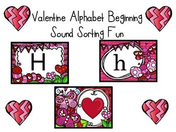 VALENTINE ALPHABET RECOGNITION SORT