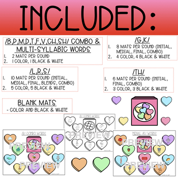 VALENTINE CANDY HEARTS SMASH/ACTIVITY MATS - ARTICULATION (SPEECH THERAPY)