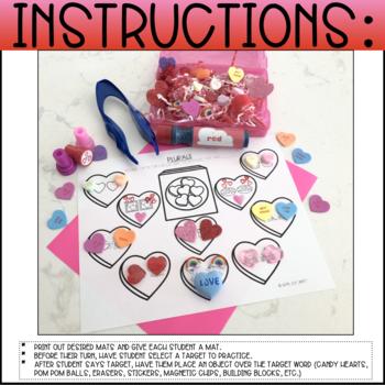 VALENTINE CANDY HEARTS SMASH MATS - BUNDLE (ARTICULATION & LANGUAGE)
