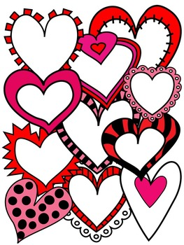 VALENTINE CLIP ART * COLOR AND BLACK AND WHITE