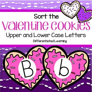 VALENTINE'S DAY Preschool Match Upper and Lower Case Alpha