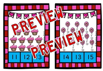 PRESCHOOL VALENTINE'S DAY ACTIVITIES KINDERGARTEN (COUNTING TO 20)