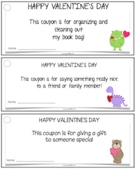 VALENTINE COUPON BOOKLETS