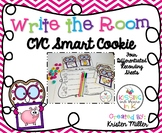 VALENTINE CVC Write the Room- Smart Cookie Themed