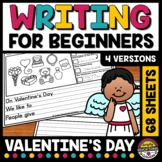 VALENTINE DAY WRITING PROMPT 1ST GRADE PICTURE WRITING SENTENCE STARTER ACTIVITY