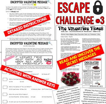 VALENTINE'S DAY Escape Room (Team Building Activities)