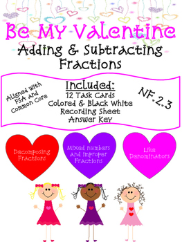 VALENTINE FRACTION TASK CARDS