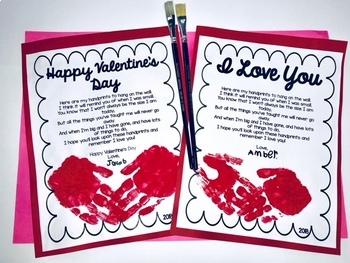 VALENTINE Handprint Parent Gift