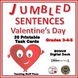 VALENTINE Jumbled Sentences ♥ Task Cards ♥ Plus Digital Deck