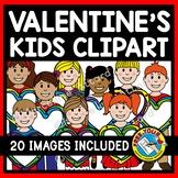 VALENTINES DAY CLIPART KIDS: VALENTINE'S DAY KIDS CLIPART: