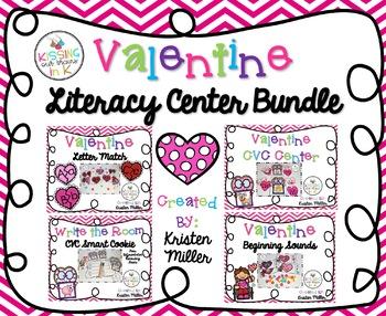 VALENTINE Literacy Center Bundle