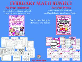 VALENTINE MATH BUNDLE COMMON CORE MAFS ENVISION