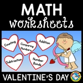 KINDERGARTEN VALENTINE MATH PRINTABLES: SKIP COUNTING, ADD