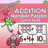 VALENTINE Math Center ~ ADDITION Puzzles