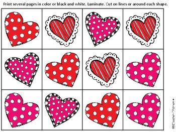 VALENTINE Missing Addends and Sums to 10