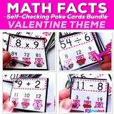 MATH FACTS Fluency Centers Poke Card Bundle | Valentine's