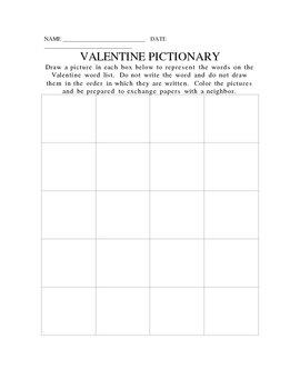 VALENTINE PICTIONARY