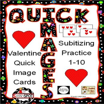VALENTINE QUICK IMAGES FOR NUMBER TALKS AND SUBITIZING PRACTICE