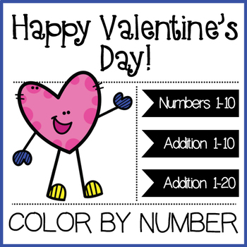 VALENTINE'S ACTIVITY: COLOR BY NUMBER