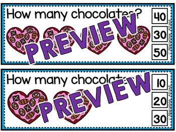 VALENTINE'S DAY KINDERGARTEN MATH ACTIVITIES(SKIP COUNTING CENTER:COUNT BY TENS)