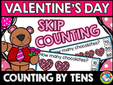 VALENTINE'S DAY ACTIVITIES KINDERGARTEN MATH (SKIP COUNTING BY 10'S CENTER)