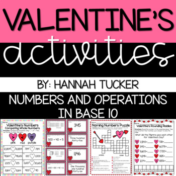 VALENTINE'S DAY: 3.NBT and 4.NBT Skills Review