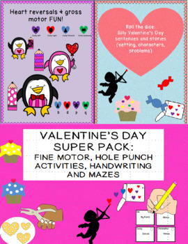 VALENTINE'S DAY: 3 downloads 9.50 for 13.50, fine motor, reversals & more 63 pgs