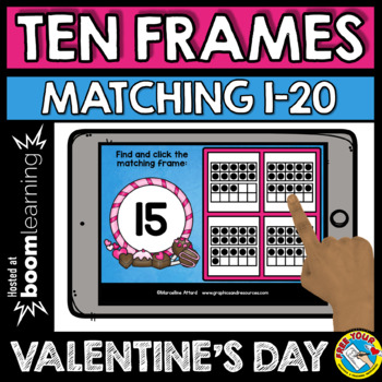 VALENTINE'S DAY ACTIVITIES KINDERGARTEN MATH (COUNTING TO 20 BOOM CARDS BUNDLES)