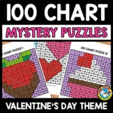 VALENTINE'S DAY ACTIVITY KINDERGARTEN (100 CHART MYSTERY PICTURE PUZZLES)