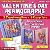 Valentine's Day: Crafts and Activities--Three Color-by-Number Agamographs