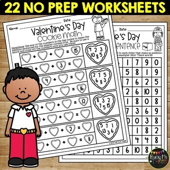 VALENTINE'S DAY Activities Packet NO PREP Fun for February