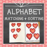 VALENTINE'S DAY BEGINNING SOUNDS & ABC MATCHING