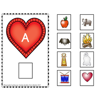 VALENTINE'S DAY BEGINNING SOUNDS & ABC MATCHING