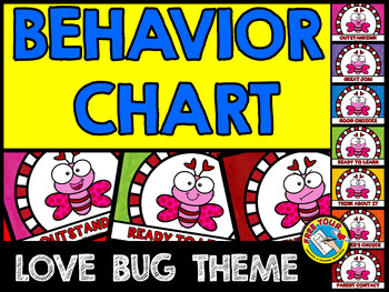 VALENTINE'S DAY BEHAVIOR CHART (LOVE BUGS BEHAVIOR MANAGEMENT CHART)