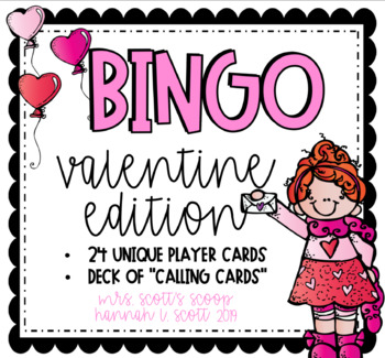 VALENTINE'S DAY BINGO (24 Cards & Calling Cards