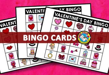 VALENTINE'S DAY BINGO GAME (FEBRUARY ACTIVITIES KINDERGARTEN, PRESCHOOL)