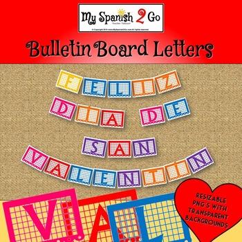 VALENTINE'S DAY BULLETIN BOARD, BANNER OR CLIP ART: Feliz Día de San Valentín