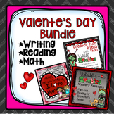 VALENTINE'S DAY BUNDLE CLOSE READING, WRITING ACTIVITY AND GREATER AND LESS THAN