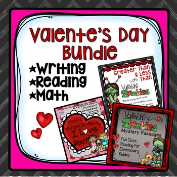 VALENTINE'S DAY BUNDLE CLOSE READING, WRITING ACTIVITY AND