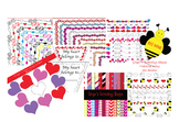 VALENTINE'S DAY BUNDLE!  Hearts!  Bees!  Love!  Letters!  Clipart!  Crafts!